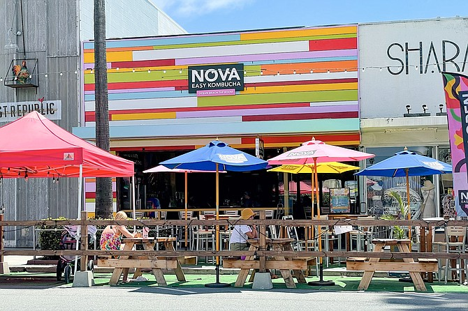 When Novo Brazil Brewing opened its Ocean Beach taproom, it was branded Nova Easy Kombucha.