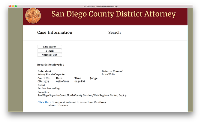 Follow her cases on the DA's website.