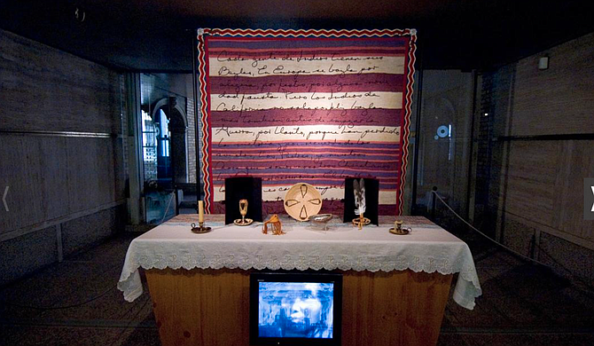 Chapel for Pablo Tac, mixed media installation by James Luna at the Venice Biennale, now in the National Museum of the American Indian at the Smithsonian. - Image by Photo by Katherine Fogden