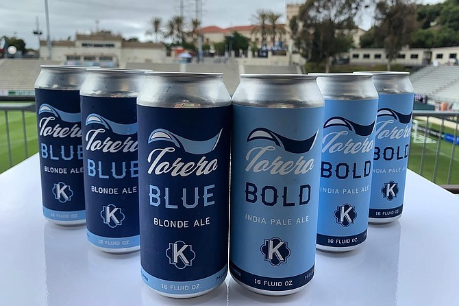 Brewed by Kensington Brewing Company, Torero Bold and Torero Blue are now sold at Torero Stadium events.