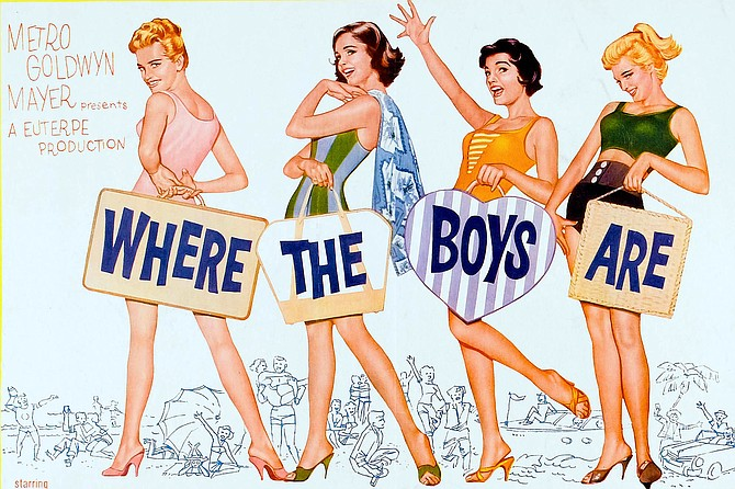 Where the Boys Are: hit the road with Dolores Hart, Paula Prentiss, Connie Francis, and Yvette Mimieux.
