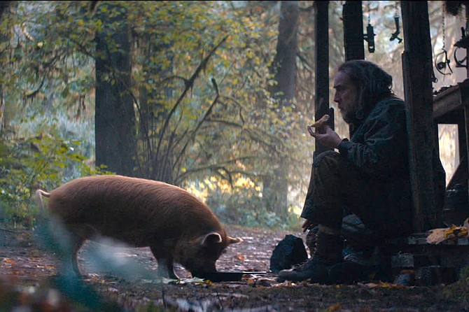 Pig: the gourmand and the gourmet (Nicolas Cage).