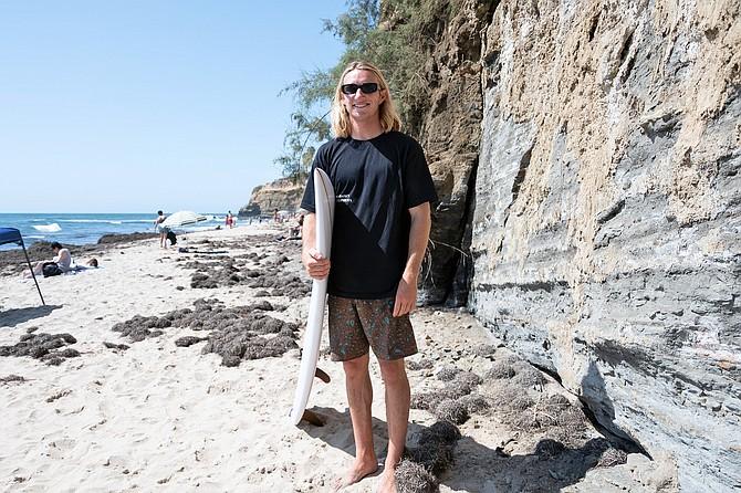 San Diego native, Ryan Filds, talks about the surf around Sunset Cliffs.