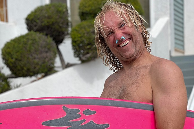 42-year-old Joey Bradley has been surfing for thirty five years. - Image by Siobhan Braun