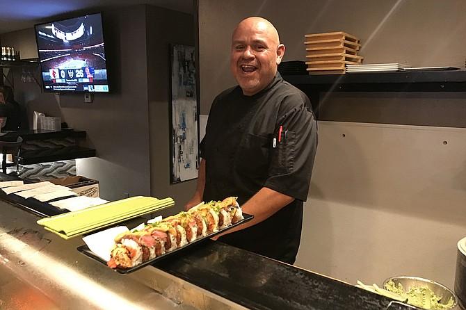 Erik Medina's last sushi, the Dirty Vegas Maki.