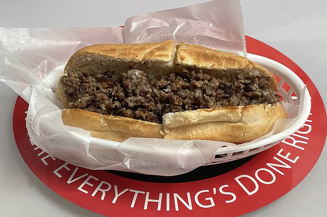 A simple, yet effective cheesesteak from newcomer Lefty's Cheesesteaks