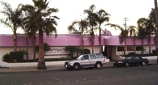 The Main Attraction was nicknamed the Purple Church for its colorful awnings.