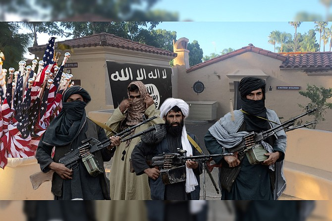 Though they have decided not to keep the cottage's generous supply of American flags, the Taliban has reportedly confiscated an Apple MacBook Pro, three beanbag chairs, and a Nespresso coffee maker left behind during the hasty evacuation.