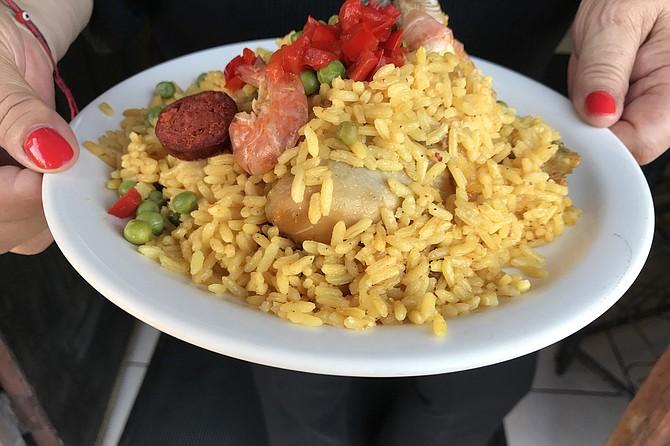 My half-serving of paella.