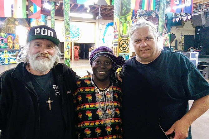 From left, Louis Procaccino, Makeda Dread and soundman Ed Tate.
