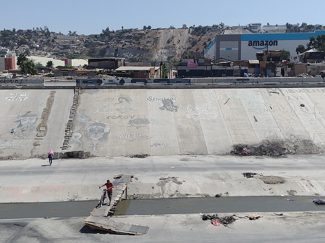 La Nueva Esperanza is next to the Tijuana River canalization, known as a place for drug sales and other illegal activities. - Image by Crisstian Villicana