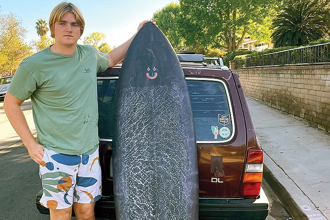 20-year-old SDSU student Jacob Brown has been surfing for 15 years.