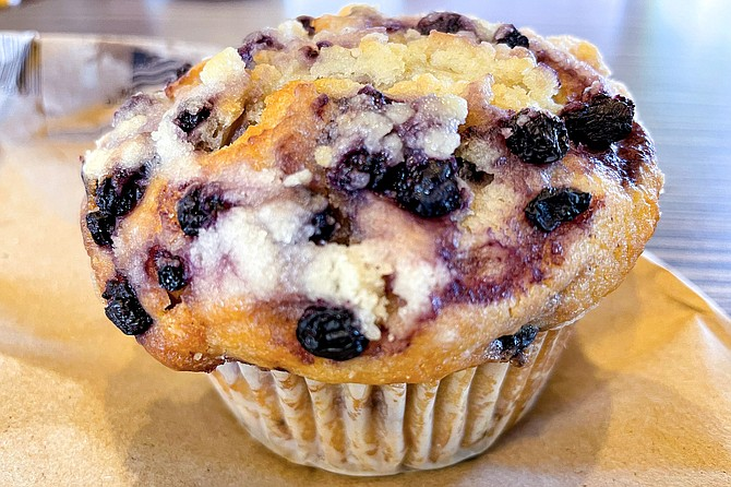 Everything you want in a blueberry muffin, from Bear Buns Bakery
