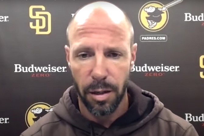 """Padres Manager Tingler: """"I mean, I guess I'm happy for the sponsorship dollars and the unlimited supply of free Bud Zero, but the fact is, I have no use for a non-alcoholic beer right now. Right now, I need a beer that will help me forget this season. I need a lot of them, in fact. A non-alcoholic beer would provide exactly zero of what I'm looking for. Which I guess is the point."""""""