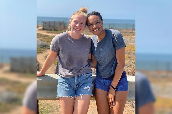 Sarah(23) and Anika(21) surf Carlsbad 3-4 times a week.