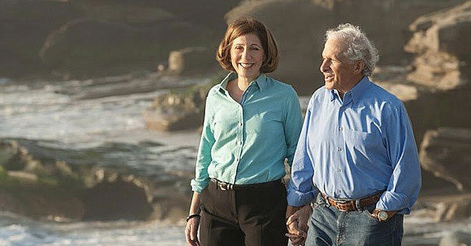 Bry with husband, Neil Senturia