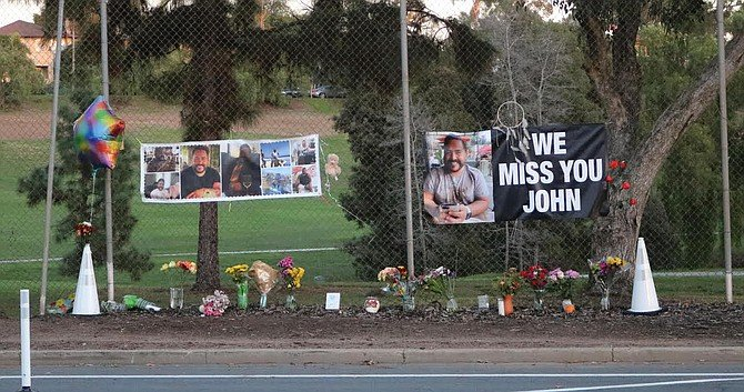 200 yards north of the memorial to Laura Shinn, who was killed in July, stands  Sepulveda's memorial.