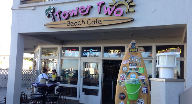 Tower Two Cafe Ocean Beach Menu