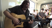 """Josh Krajcik performs his song """"The Remedy"""" on <em>A Trolley Show</em>."""