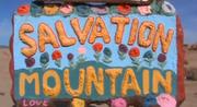 Leonard Knight's Salvation Mountain in Niland, California.
