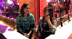 Amanda and Nicole discuss forming a social group around veganism.