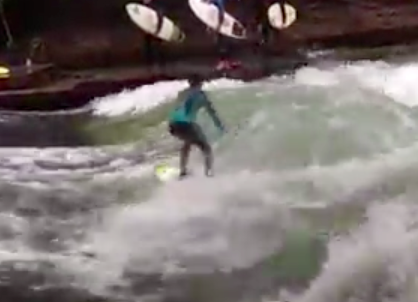 River surfer on the Eisbach.