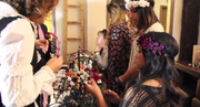 A first-person POV walkthrough of a pop-up fashion event held at the Bamboo Lounge in Hillcrest, San Diego, California.