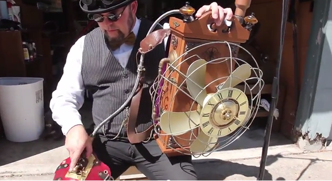 """Jeb Haught, steampunk fan and """"maker,"""" shares his story of discovering his passion for creating interesting things and shows off one of his more notable creations."""