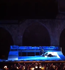 Israeli Opera Fest had to break for the regional Muslim call to prayer on the PA system.