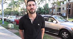 John Forouzandeh speaks about his experience when parking in his Kearny Mesa neighborhood..