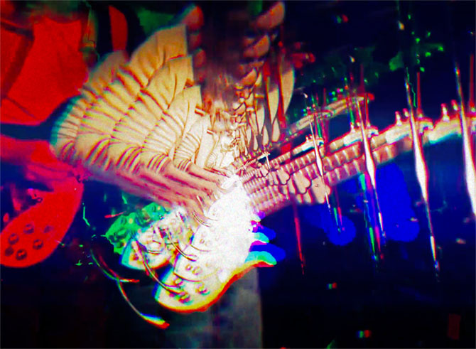 Tame Impala performing their radio hit live at Coachella