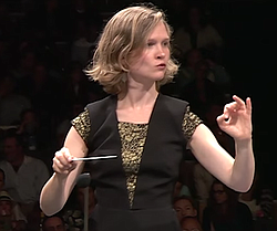 ...on conducting the Los Angeles Philharmonic