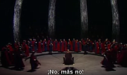 ...conclusion of <em>Parsifal</em> from a previous Bayreuth production