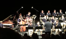 """...drums on """"Blue Room"""" with the JLCO Summer Jazz Academy Milt Hilton Big Band"""