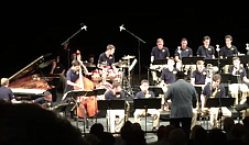 "...drums on ""Blue Room"" with the JLCO Summer Jazz Academy Milt Hilton Big Band"