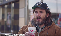 Meet Donny (Casey Affleck), a real Dunkin Donuts customer.