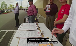 "Orange Co. Dem vice-chairman attacking recall signature gatherers — ""Are you gay?"""