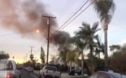 Dec. 2017 footage of plane crash into house