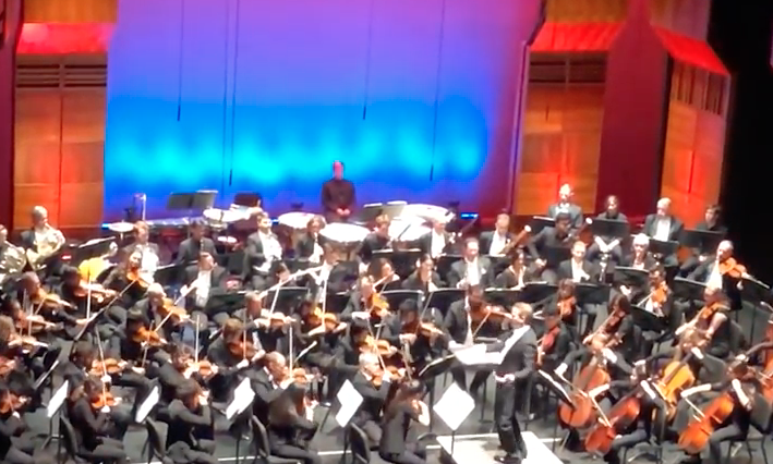 The Mainly Mozart Youth Orchestra playing with the Festival Orchestra and Derek Paravicini
