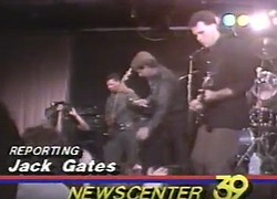 San Diego's Newscenter 39 reporter Jack Gates does a story in June 1984 about Club 33, featuring clips of a taping with Urban Umbrella and an interview with Cox programmer Maya Gallagher.