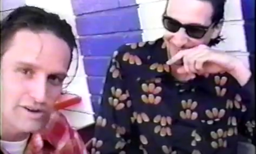 """Unreleased footage from a 1995 video shot in San Diego featuring the Rugburns (""""Hitchhiker Joe,"""" etc) with Frank Zappa and Bill Mumy collaborator Larry """"Wild Man"""" Fischer."""
