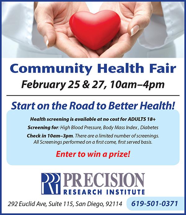Precision Research Health Fair